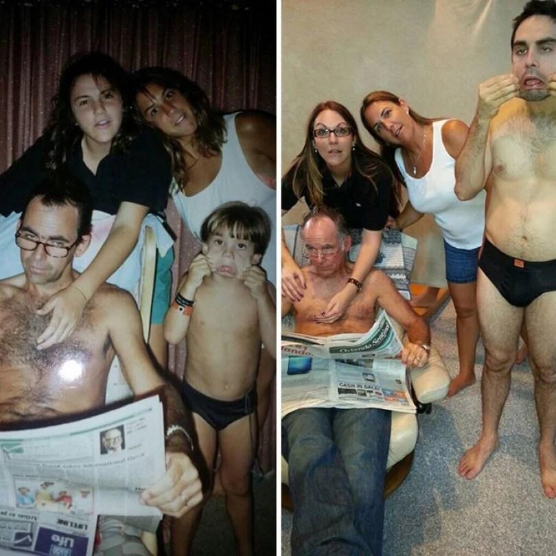 fotos antigas de familia 22 - Famílias reproduzem suas fotos antigas com hoje em dia #Parte 2