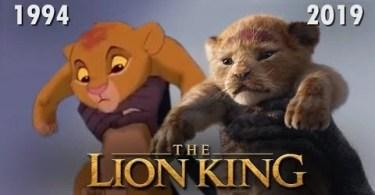 comparação rei leao 1994 2019 - Cena onde Timão e Pumba encontram Simba é liberada pela Disney