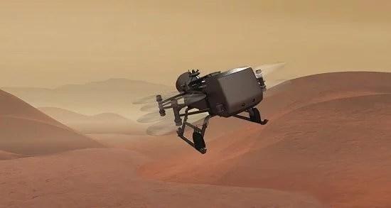 drone titan 5 - NASA vai voar em torno da lua Titã à procura de sinais de vida