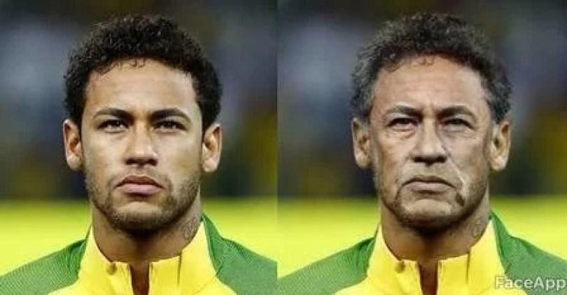 neymar Famosos Faceapp - FaceApp: Famosos mais velhos fazem sucesso nas Redes Sociais