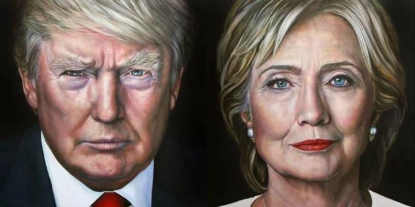 Saskia Vugts portretschilder Hillary Clinton Donald Trump 1024x512 650x325 1 - A pintura realista de Saskia Vugts em sua forma sublime