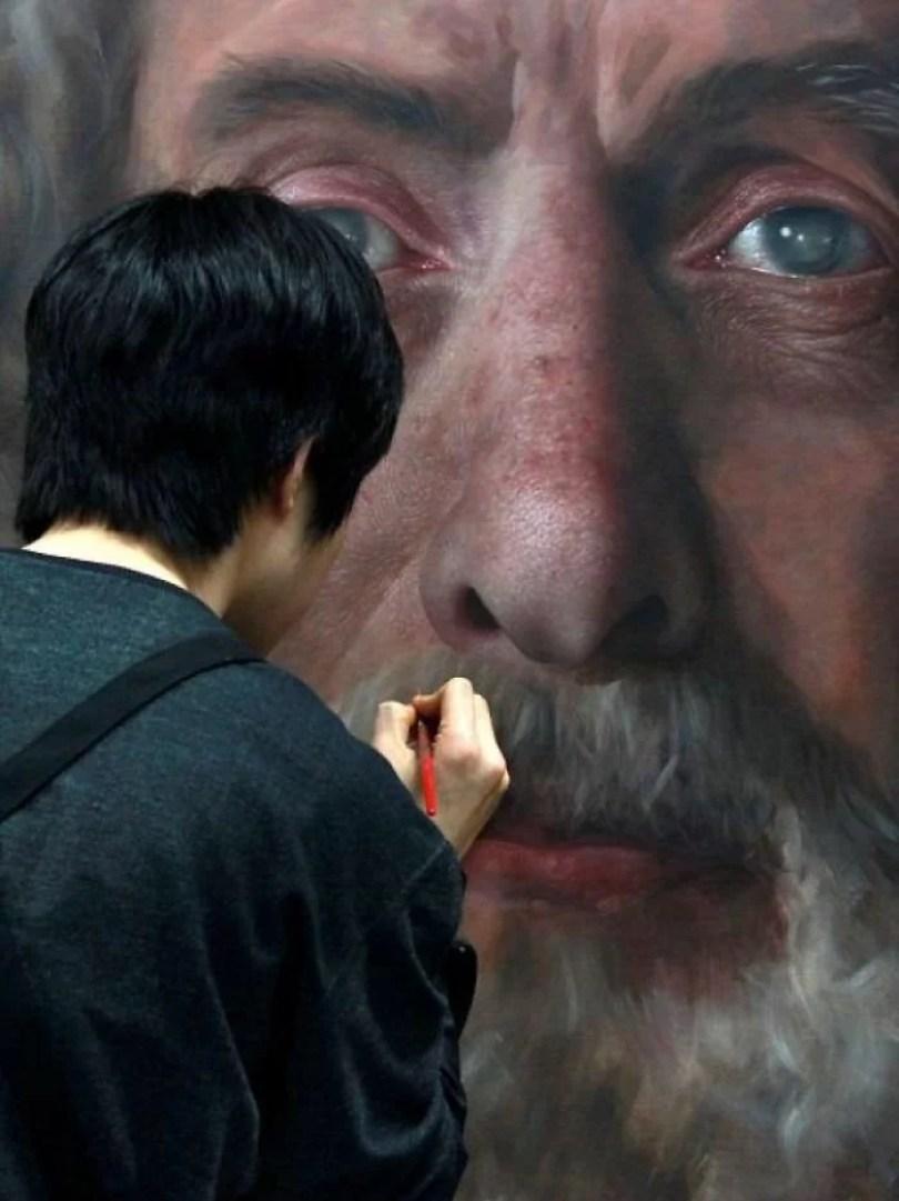 Parece Real Pintor sul coreano faz obras hiper realistas chocantes Joongwon Jeong5 - Parece Real: Pintor sul-coreano faz obras hiper-realistas chocantes!