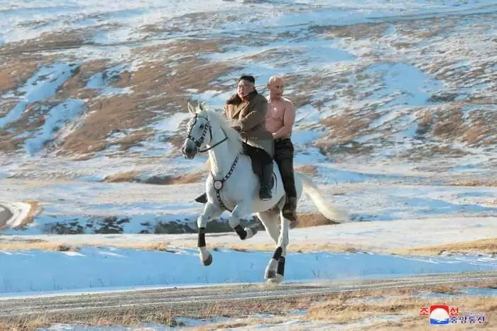 kim jong un horse riding sacred mountain 5da81e4969d95  700 - Kim Jon-un e Vladmir Putin andaram juntos a cavalo?
