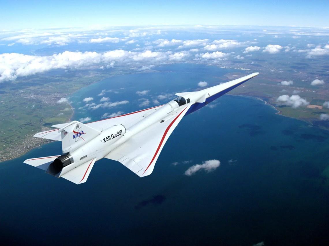 supersonico da nasa x59 questt - Está previsto para 2021 Supersônico da NASA que não emitirá ruído