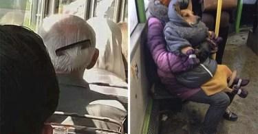 """Conta do Instagram compartilha as coisas mais estranhas do transporte público - Resultado impressionante de pessoas """"repaginadas"""" por estilista russo"""