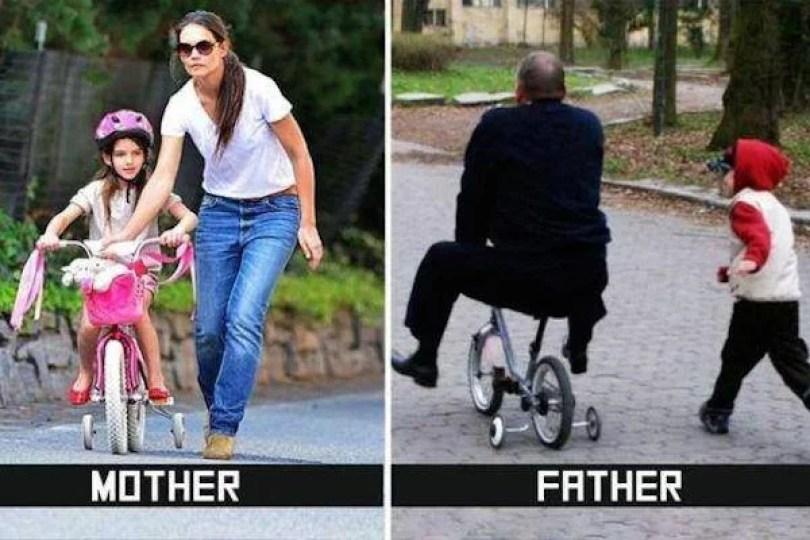 anya vs apa 1 - Quando as mães deixam seus filhos sozinhos com os pais
