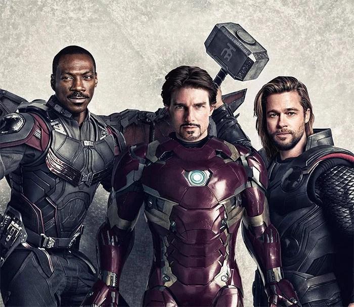 marvel avengers movie actors 90s houseofmat 3 5cd15080e4ff4  700 - Este artista tentou imaginar como seria o elenco dos Vingadores nos anos 90