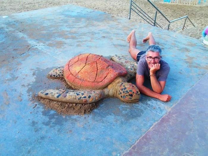 melhor escultor de areia do mundo sand art bull andoni 08 - As impressionantes esculturas realistas de areia de Andoni Bastarrika