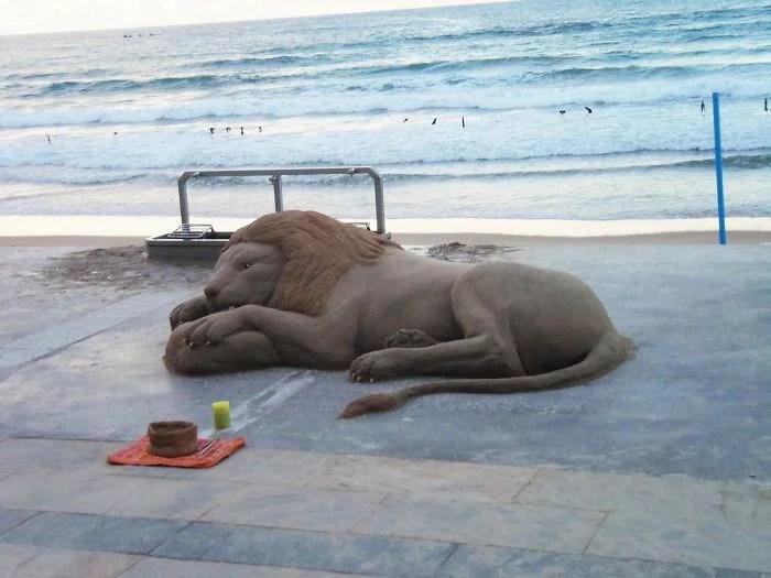 melhor escultor de areia do mundo sand art bull andoni 21 - As impressionantes esculturas realistas de areia de Andoni Bastarrika