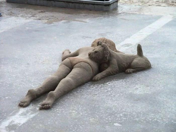 melhor escultor de areia do mundo sand art bull andoni 23 - As impressionantes esculturas realistas de areia de Andoni Bastarrika