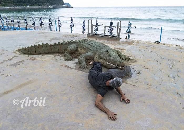 melhor escultor de areia do mundo sand art bull andoni 29 - As impressionantes esculturas realistas de areia de Andoni Bastarrika