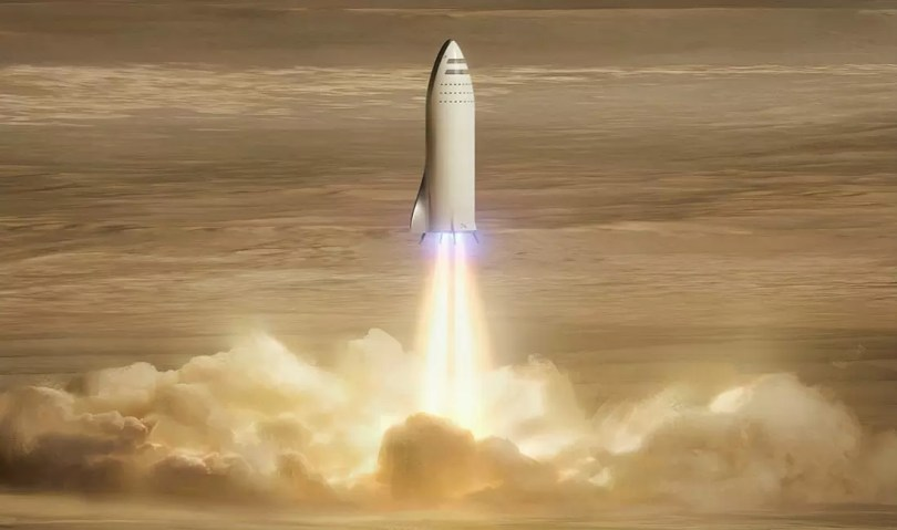 starship big falcon rocket bfr - Reveja o lançamento SpaceX/NASA dos americanos na Crew Dragon
