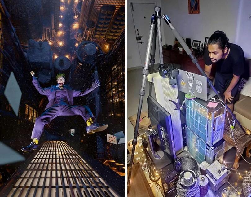 toy joker figurine photo using household items coverimage - Foto Impressionante - Você não vai acreditar como ele fez esta foto!
