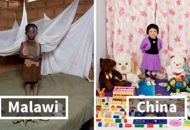 Crianças fotos da fotógrafa Gabriele Galimberti - Projeto Fotográfico: Crianças posam ao lado de seus brinquedos favoritos