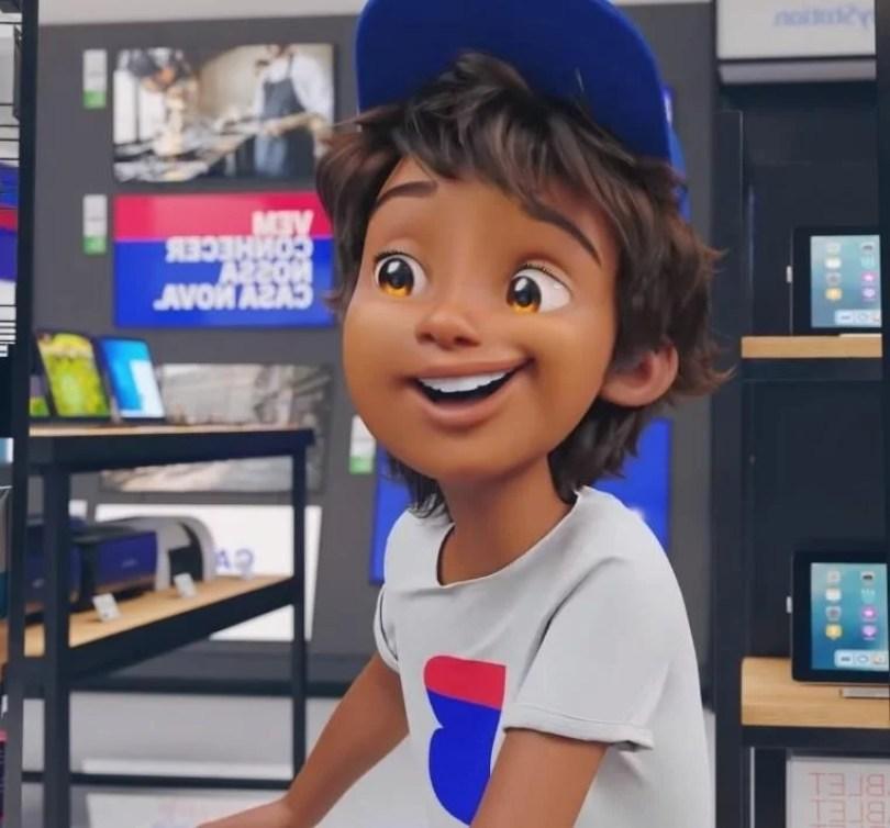 casas bahia bahianinho cresce e se transforma no jovem cb - Lojas Casas Bahia apresenta seu mascote de cara nova
