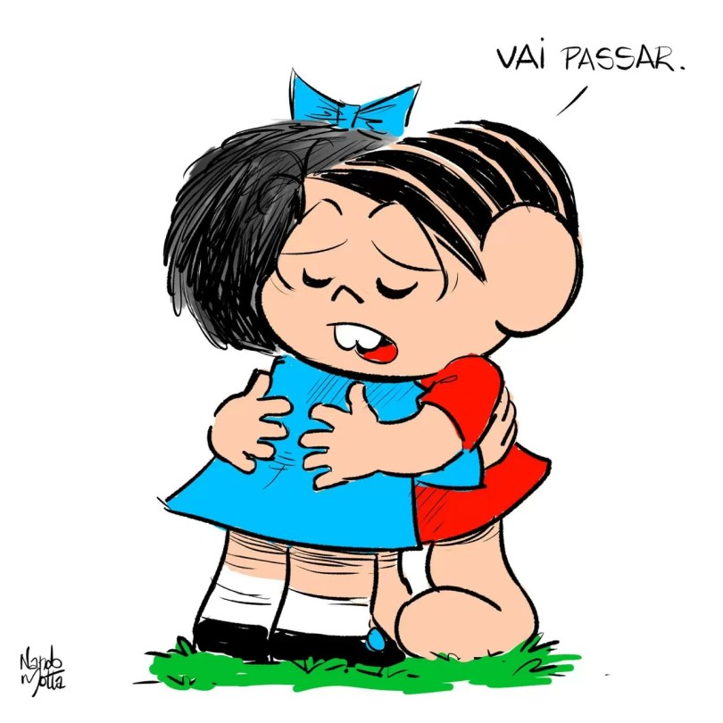 monica e mafalda 2 - Em 2014 Mônica conhecia Mafalda pela primeira vez