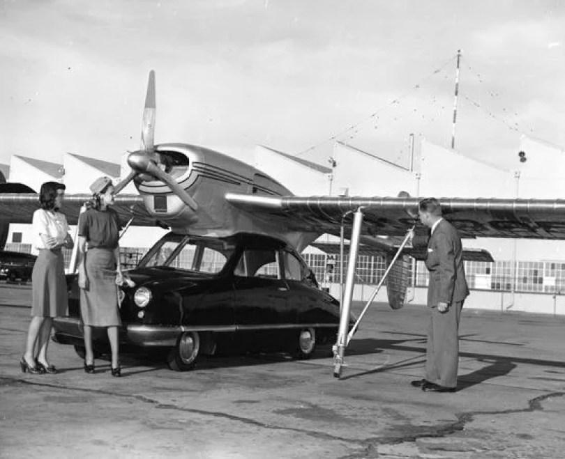 primeiro carro voador do mundo propotipos futuro 7 - Carros Voadores já existiram em 1947