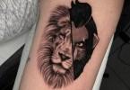 tatuagens criadas a partir de dois estilos diferentes por regra de tapete 3