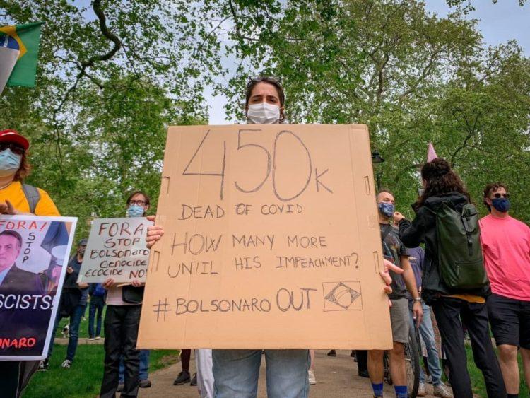 Manifestação em Londres. Foto: Dani Assis