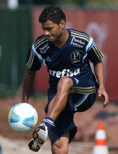 Cleiton Xavier busca sucesso na segunda passagem pelo Palmeiras (Cesar Greco/Ag Palmeiras/Divulgação)