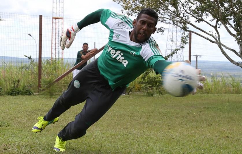 Aranha, que havia sido relacionado pela primeira vez na semana passada, não viajará para jogo contra ex-clube. (Cesar Greco/Ag. Palmeiras/Divulgação)