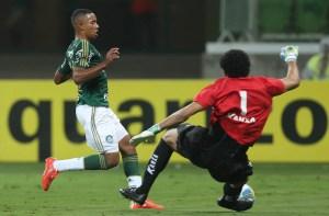 Mesmo com pouco tempo, Gabriel Jesus mostrou desenvoltura em sua estreia. Cesar Greco/Ag Palmeiras/Divulgação