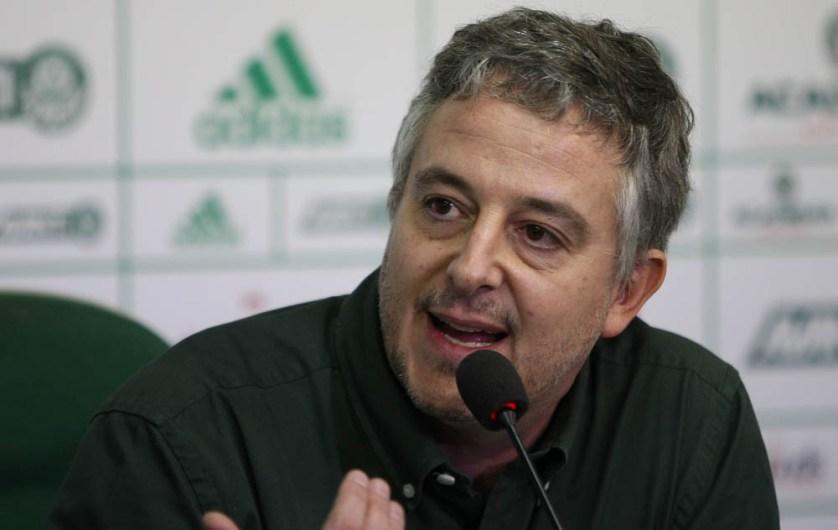'Não chegamos aqui à toa', disse o presidente Paulo Nobre após a partida contra o Santos. (Cesar Greco/Ag. Palmeiras/Divulgação)