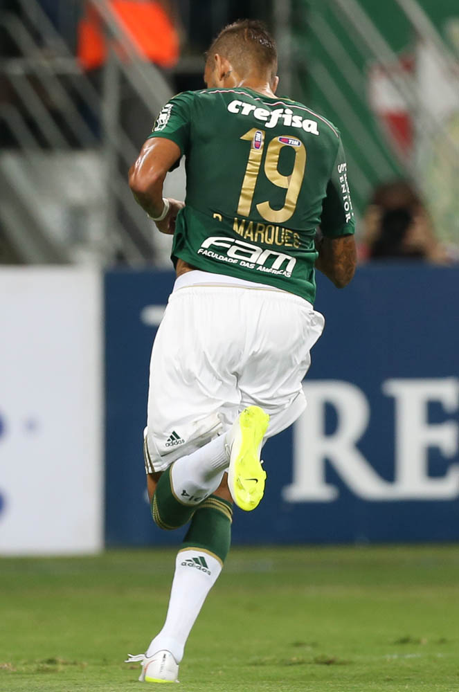 Com direito a golaço, Rafael Marques fez uma de suas melhores atuações pelo Palmeiras (Cesar Greco/Ag. Palmeiras/Divulgação)
