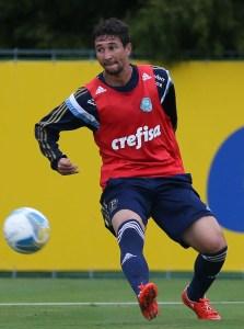 Ryder voltou a ser relacionado pelo técnico Oswaldo de Oliveira. (Cesar Greco/Ag. Palmeiras/Divulgação)