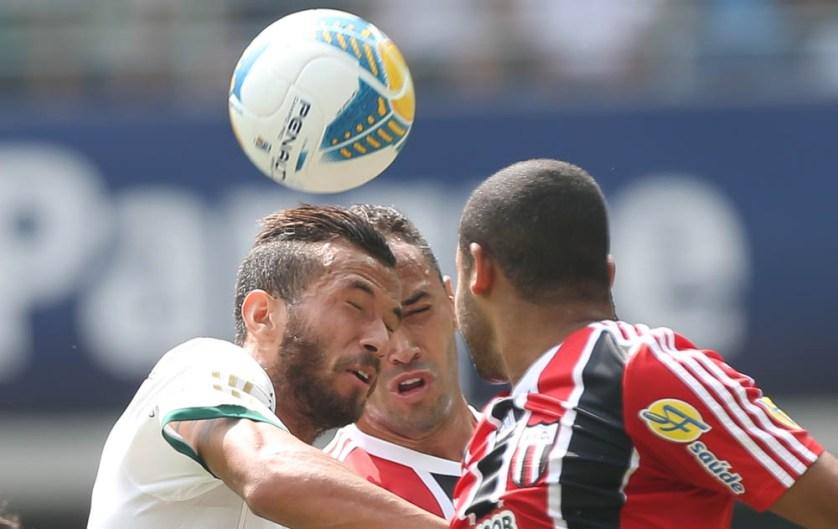 Leandro é um dos jogadores que não poderá entrar em campo no Derby do próximo final de semana. (Cesar Greco/Ag. Palmeiras/Divulgação)