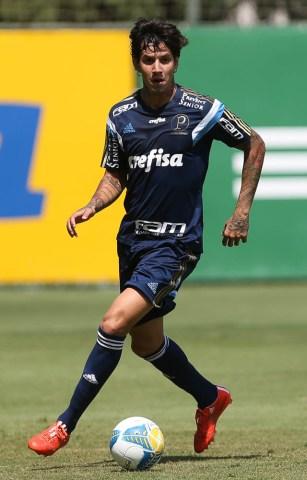 Victor Ramos esta feliz com a oportunidade de ser titular novamente. (Cesar Greco/Ag. Palmeiras/Divulgação)