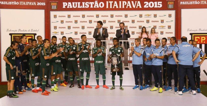 Palmeiras ficou com o vice-campeonato paulista após iniciar a sua reformulação em 2015. (Cesar Greco/Ag. Palmeiras/Divulgação)