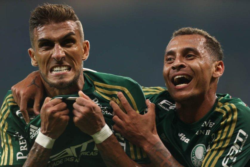 O gol de empate foi o sétimo de Rafael Marques nesta temporada. (Cesar Greco/Ag. Palmeiras/Divulgação)