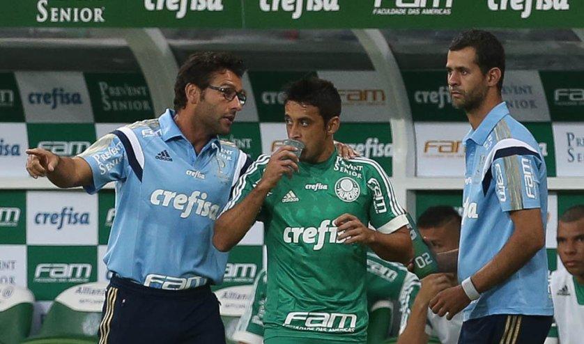 Alberto Valentim foi o técnico interino do Palmeiras neste domingo, 14. (Cesar Greco/Ag.Palmeiras/Divulgação)