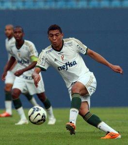 Carlos Vinicius marcou duas vezes diante da equipe paulista. (Fabio Menotti/Ag. Palmeiras/Divulgação)
