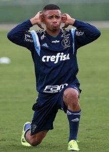 Gabriel voltou a treinar com a equipe após disputa do Mundial Sub-20 pelo Brasil. (Cesar Greco/Ag. Palmeiras/Divulgação)