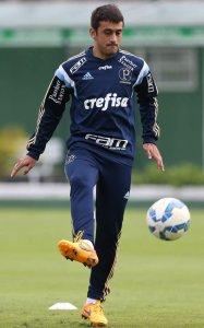 Robinho treinou como titular nesta quarta-feira, 17. (Cesar Greco/Ag. Palmeiras/Divulgação)