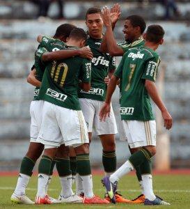 Sub-20 do Verdão estreou na segunda fase vencendo o Vasco por 3 a 0. (Fabio Menotti/Ag.Palmeiras/Divulgação)