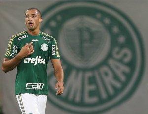 Vitor Hugo marcou o tento alviverde. (Cesar Greco/Ag. Palmeiras/Divulgação)