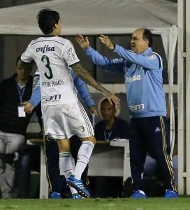 Victor Ramos marcou o terceiro na goleada do Verdão. (Cesar Greco/Ag.Palmeiras/Divulgação)