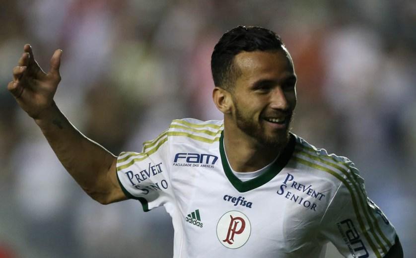 Leandro Pereira retornou ao Palmeiras após manifestação do treinador Cuca em contar com mais um atacante no elenco. (Cesar Greco/Ag.Palmeiras/Divulgação)
