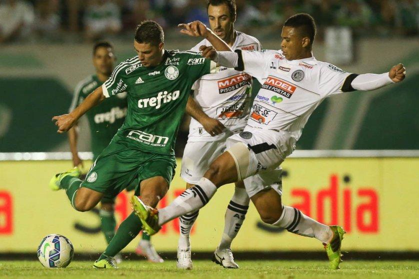 Andrei Girotto foi titular contra o ASA, na quarta. (Cesar Greco/Ag. Palmeiras/Divulgação)