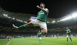 Cristaldo marcou o 3º gol da vitória sobre o Avaí, no Allianz Parque (Cesar Greco/Ag. Palmeiras/Divulgação)