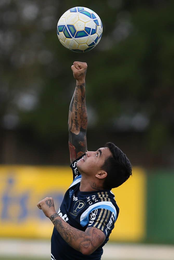Dudu recebe novamente efeito suspensivo para sua punição (Cesar Greco/Ag. Palmeiras/Divulgação)
