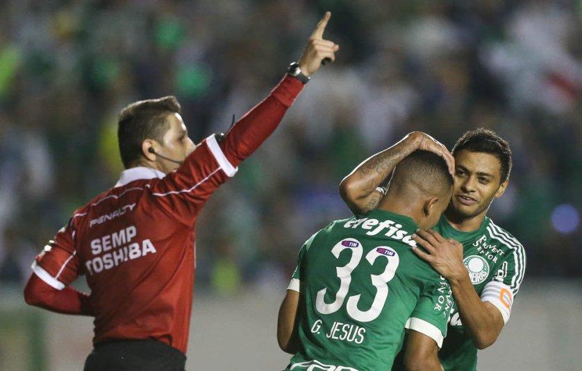 Gabriel Jesus foi o destaque da vitória diante do ASA. (Cesar Greco/Ag.Palmeiras/Divulgação)