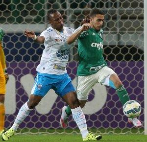 Volante Gabriel é o jogador com o maior número de desarmes no Brasileirão (Cesar Greco/Ag.Palmeiras/Divulgação)
