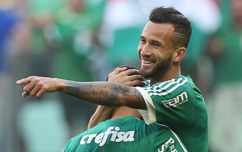 O atacante Leandro Pereira foi decisivo novamente no clássico do último domingo (19), contra o Santos. (Cesar Greco/Ag. Palmeiras/Divulgação)