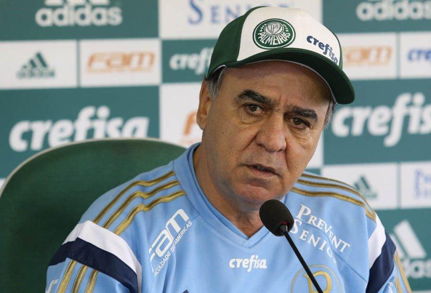 Marcelo Oliveira concedeu entrevista na Academia de Futebol. (Cesar Greco/Ag.Palmeiras/Divulgação)