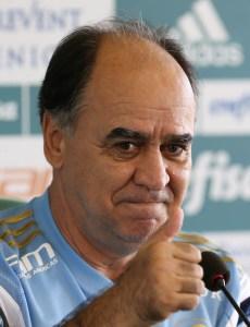 Marcelo Oliveira concedeu entrevista coletiva na Academia de Futebol nesta sexta-feira (24). (Cesar Greco/Ag.Palmeiras/Divulgação)