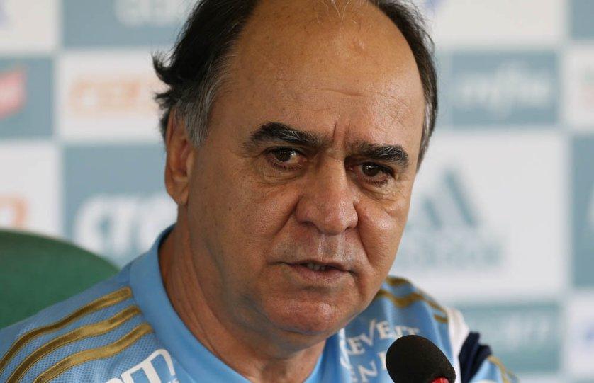 O técnico Marcelo Oliveira concedeu entrevista coletiva na Academia de Futebol nesta sexta-feira (18). (Cesar Greco/Ag.Palmeiras/Divulgação)